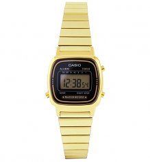 Slimline Gold and Black Watch LA-670WEGA-1EF from Casio