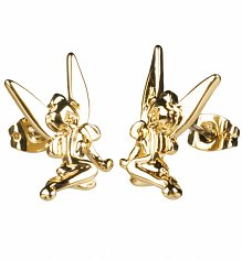 14kt Gold Plated Tinker Bell Stud Earrings from Disney Couture