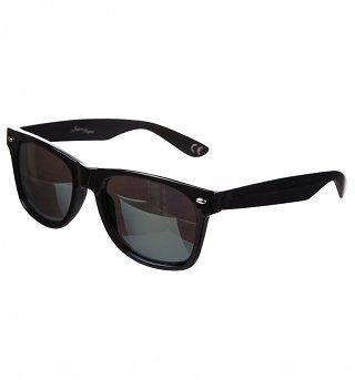 Black Frame Mirror Lens Wayfarer Sunglasses from Jeepers Peepers