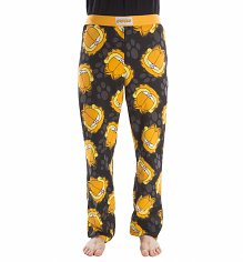 Black Garfield Lounge Pants