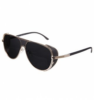 Black Metal Frame Aviator Sunglasses from Jeepers Peepers