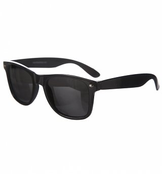 Black Polarised Mirror Lens Wayfarer Sunglasses