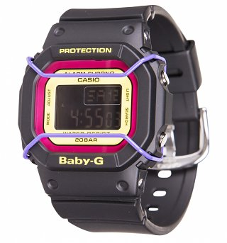 Black Retro Baby-G Resin Watch BDG-501-1BER