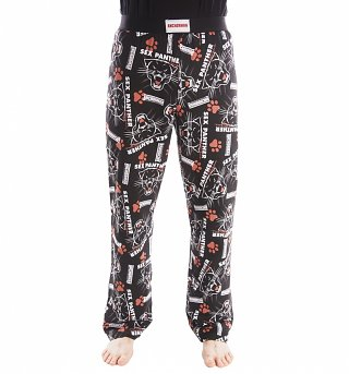 Black Sex Panther Anchorman Lounge Pants