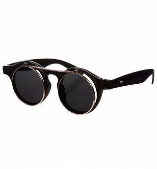 Black Steampunk Sunglasses