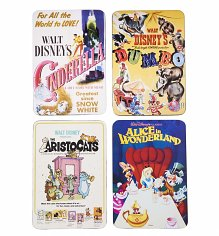 Boxed Classic Disney Film Poster Set Of 4 Coasters