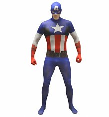 Captain America Marvel Comics Morphsuit