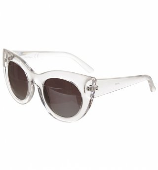 Clear Mirror Lens Cats Eye Sunglasses from Jeepers Peepers