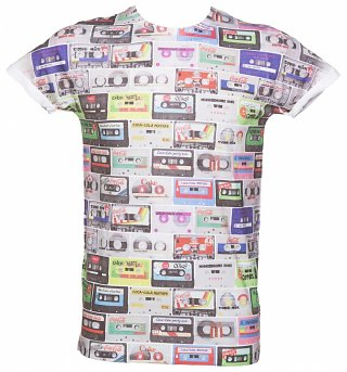 Coca-Cola Mixtapes Sublimation Print T-Shirt from Retro Fred's