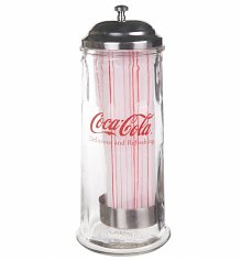 Coca-Cola Delicious And Refreshing Heavy Glass Straw Dispenser