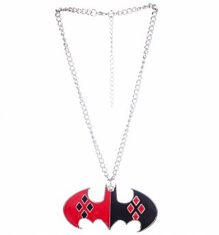 DC Comics Harley Quinn Logo Necklace