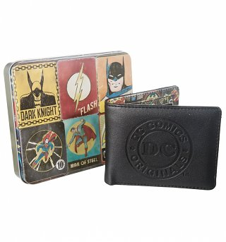 DC Comics Vintage Print Wallet In Tin