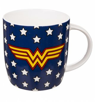 DC Comics Wonder Woman Logo And Stars Mug