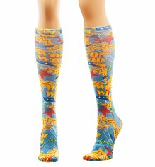 DC Comics Wonder Woman Sublimated Knee High Socks