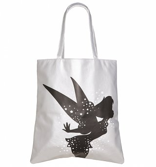 Disney Tinker Bell Silver Shopper Bag