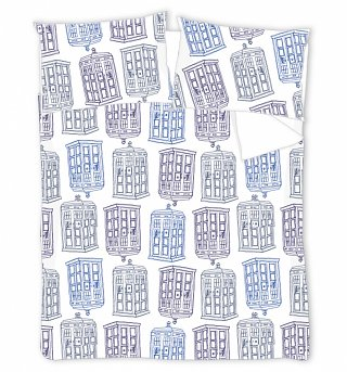 Double Doctor Who TARDIS All Over Print Duvet Cover Set from BBC Worldwide