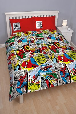 Double Marvel Comics All Over Print Duvet Cover Set