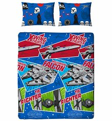 Double Star Wars Episode VII Craft Duvet Cover Set