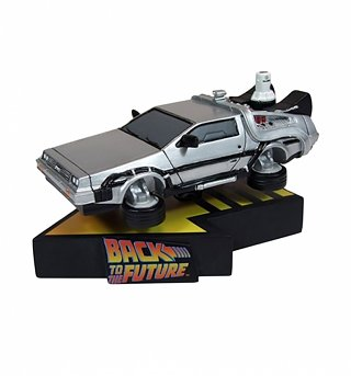 Flying Delorean BTTF II Shakems Premium Motion Statue