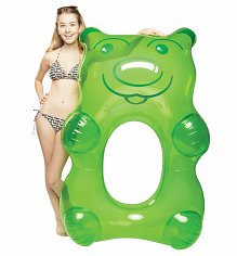 Giant Green Gummi Bear Pool Float