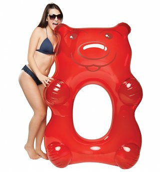 Giant Red Gummi Bear Pool Float