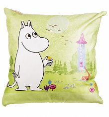 Green Moomin Scene Cushion