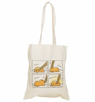 Gudetama Comic Strip Tote Bag