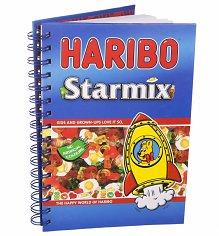 Haribo Star Mix Spiral Bound A5 Notebook