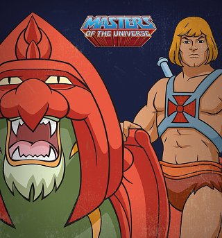 He-Man And Battle Cat Canvas Print 40cm x 40cm