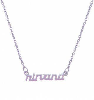 Iridescent Lilac Nineties Nirvana Necklace from Me & Zena
