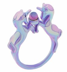 Iridescent Lilac Nineties Unicorn Ring from Me & Zena