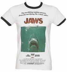 Men's Jaws Movie Poster Ringer T-Shirt