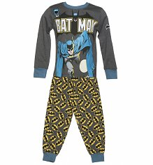 Kids Dark Grey Batman Pyjamas from Fabric Flavours