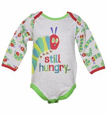 Kids Grey Marl Hungry Caterpillar Still Hungry Babygrow from Fabric Flavours