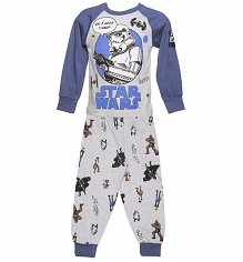 Kids Grey Marl Star Wars Stormtrooper Do I Look Tired Pyjamas from Fabric Flavours