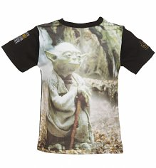Kids Star Wars Photographic Yoda T-Shirt from Fabric Flavours