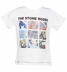 Kids White Stone Roses Album Covers T-Shirt from Amplified Kids