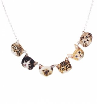 Kitten Faces Necklace from Punky Pins