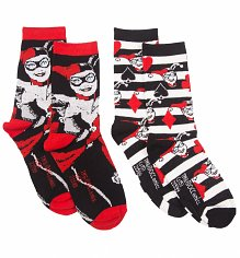 Ladies 2Pk DC Comics Harley Quinn Socks