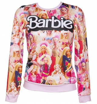 Women's All Over Print Barbie Sweater