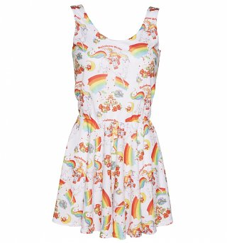 Women's All Over Print Vintage Rainbow Brite Sleeveless Circle Dress from Mr Gugu & Miss Go
