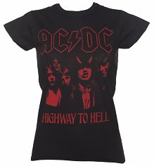 Women's Black AC/DC Highway To Hell T-Shirt