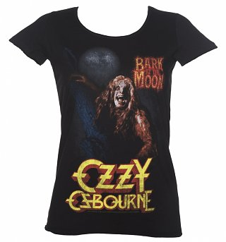 Ladies Black Bark At The Moon Ozzy Osbourne T-Shirt from Amplified