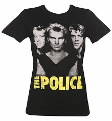 Women's Black The Police Classic T-Shirt from Goodie Two Sleeves