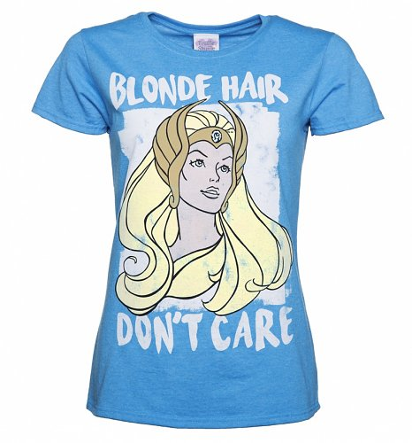 Ladies Blonde Hair Don't Care She-Ra T-Shirt