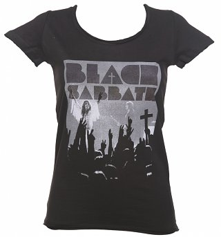 Ladies Charcoal Black Sabbath Victory T-Shirt from Amplified