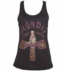Ladies Charcoal Blondie Camp Funtime Vest from Amplified