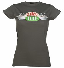 Ladies Charcoal Central Perk Friends T-Shirt