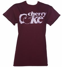 Women's Cherry Coke Retro Logo Rolled Sleeve Boyfriend T-Shirt