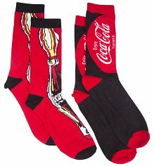 Ladies Coca-Cola Classic 2pk Socks